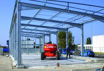 construction batiment edf charpente métallique